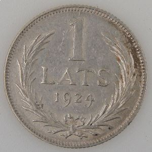 Lettonie, Latvia, 1 Lats 1924, SUP+, KM#7