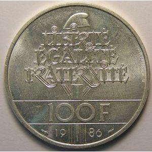 Liberté, 100 Francs 1986, SUP+, KM# 960