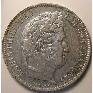 Louis-Philippe I, 5 Francs 1831 W , KM# 745.13, TTB/TTB+