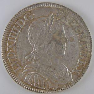 Louis XIV, 1/2 Ecu à la mèche longue 1653 Y, Gadoury: 169, TTB+