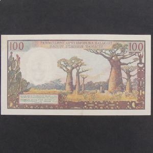 Madagascar, 100 Francs ND, XF
