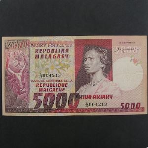 Madagascar, 5000 Francs ND, VF