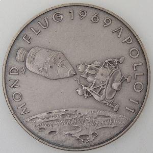 Médaille, Wernher Von Braun, Mondflug 1969 Apollo 11