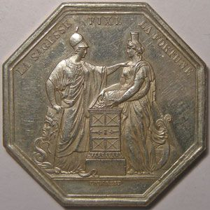 Médaille Banque De France, argent 36mm, 25.43 Grs, signé Dumarest