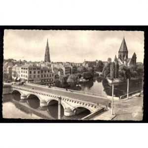 METZ - Pont Moyen et Temple Protestant
