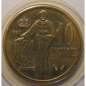 Monaco, 10 Centimes 1982, FDC, Gad# 146