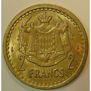 Monaco, 2 Francs 1943, TTB+/SUP, KM# 121a