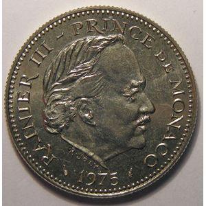 Monaco, 5 Francs 1975  SPL, Gad# MC153