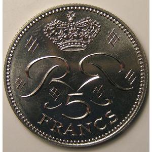 Monaco , 5 Francs 1975, SPL+, KM 150