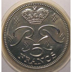 Monaco, 5 Francs 1982, FDC, Gad# MC153