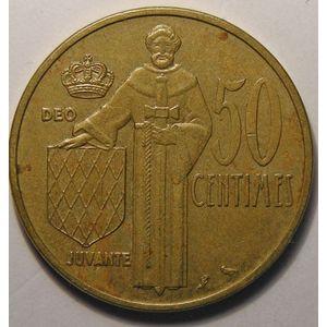 Monaco, 50 Centimes 1962, TB+/TTB, Gad# 148