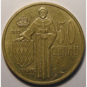 Monaco, 50 Centimes 1962, TTB, Gad# 148