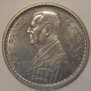 Monaco, Essai, 10 Francs 1945, SPL, Gad: MC 136