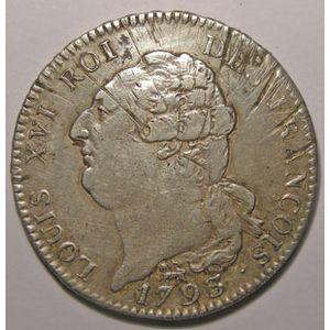 Monnaie de la révolution, Constitution, Ecu de 6 livres, 1793 A  Paris