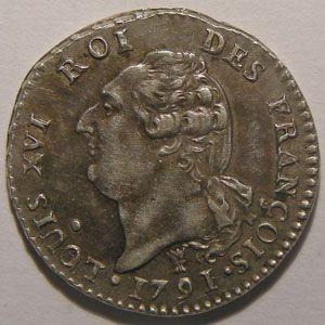 Monnaie de la Révolution, Constitution, Louis XVI, 15 Sols 1791 I Limoges 2ème Semestre, TTB+/SUP