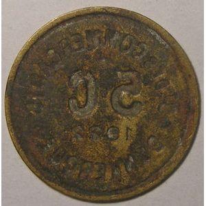Monnaie de nécessité, Dunkerque, St des Commerçants, 5 centimes 1922, TTB, Elie: 10.7