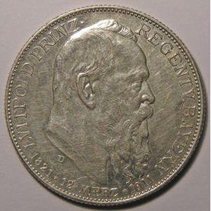 Monnaie étrangère, Allemagne, Germany, Empire Allemand, Bayern, 2 Mark 1911 D, SUP, AKS# 207