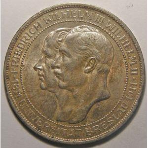 Monnaie étrangère, Allemagne, Germany, Empire Allemand, Preussen, 3 Mark 1911 A, SUP 1 choc, AKS# 138