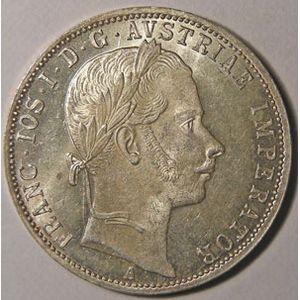 Monnaie étrangère, Autriche, Austria, 1 Florin 1861 A