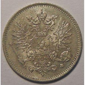 Monnaie étrangère, Finlande, Finland, 25 Penniä 1916 s, SUP/SUP+, KM# 6.2