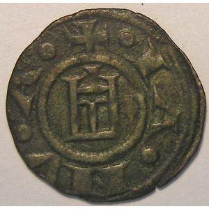 Monnaie étrangère, Italie, Italy, Denier de Gênes, TTB, Biaggi# 858