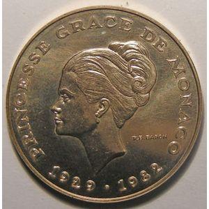 Monnaie étrangère, Monaco, 10 Francs 1982 Grace de Monaco ESSAI, SPL, Gad# 158