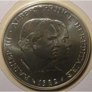 Monnaie étrangère, Monaco, 100 Francs 1982 FDC, Gad# 163
