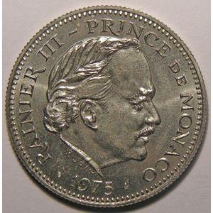 Monnaie étrangère, Monaco, 5 Francs 1975, SPL, Gad# 153