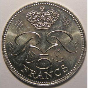 Monnaie étrangère, Monaco, 5 Francs 1976, SPL, Gad# 153