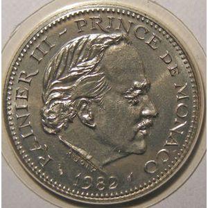 Monnaie étrangère, Monaco, Rainier III, 5 Francs 1982