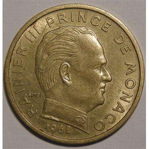 Monnaie étrangère, Monaco, Rainier III, 50 centimes 1962