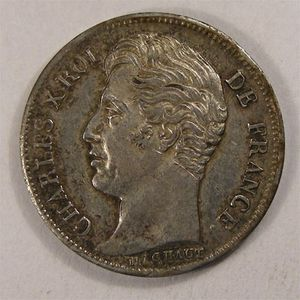 Monnaie française, Charles X, 1/2 franc, 1826 A   Paris