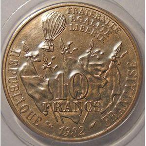 Monnaie française, Gambetta, 10 Francs 1982