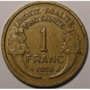 Monnaie Française, Morlon, 1 Franc 1935