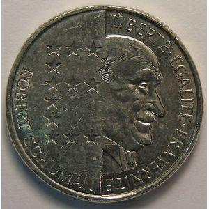 Monnaie  française, Schuman, 10 Francs 1986, SUP, KM#958