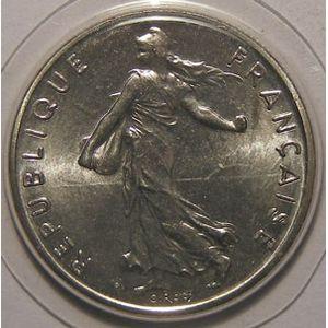 Monnaie française, Semeuse, 1/2 Franc 1980 FDC, Gad: 429