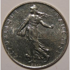 Monnaie française, Semeuse, 1 Franc 1988 SUP+, Gad: 474