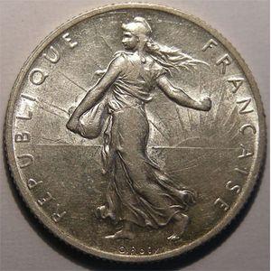 Monnaie Française, Semeuse, 2 Francs 1908