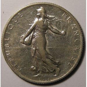 Monnaie française, Semeuse, 2 Francs 1909, Gadoury: 532, TB+/TTB