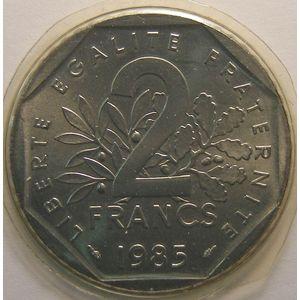 Monnaie française, Semeuse, 2 Francs 1985, FDC, KM#942.1