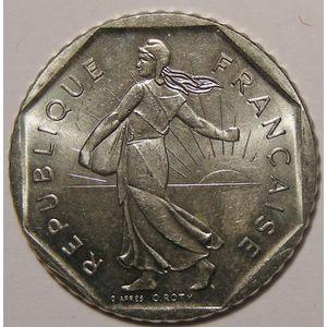 Monnaie française, Semeuse, 2 Francs 1985 SUP+, KM# 942.1
