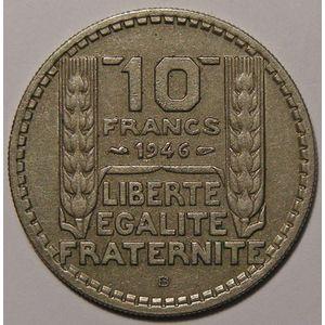 Monnaie française, Turin, 10 Francs 1946 B Rameaux Longs , Gadoury: 810, TTB