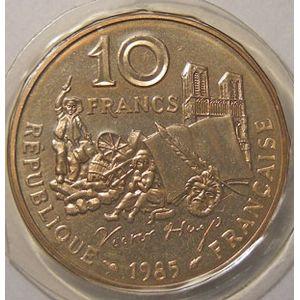 Monnaie française, Victor Hugo, 10 Francs 1985 Tranche A