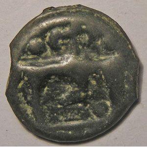 Monnaie Gauloise, Haute et Moyenne Seine, Potin au taureau et au lys, 3.49 Grs, DT: 229, TTB
