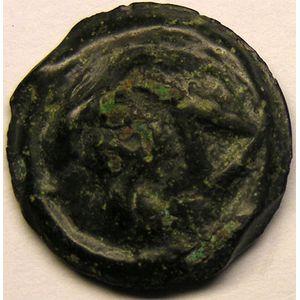 Monnaie gauloise, Séquanes, Potin Toc au cheval