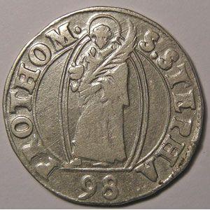 Monnaie Lorraine, Cité de Metz, Teston 1598, Flon n°4  P742
