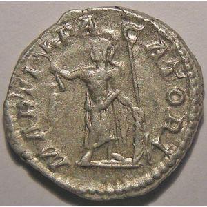 Monnaie romaine, empereur, Caracalla, Denier,  R/ MARTI PACATORI