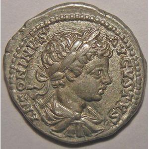 Monnaie romaine, empereur, Caracalla, Denier,  R/ SEVERI PII AVG FIL