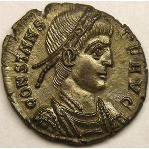 Monnaie romaine, empereur, Constans, centenionalis ou nummus, R/ VICTORIAE DD AVGG Q NN