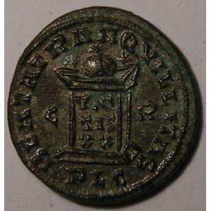 Monnaie romaine, empereur, Constantin I, Constantinus I, Centenionalis,  R/ BEATA TRANQVILLITAS